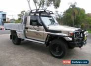2006 Toyota Landcruiser HDJ79R RV (4x4) Silver Manual 5sp M Cab Chassis for Sale