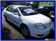 2007 Toyota Corolla ZZE122R MY06 Upgrade Ascent White Automatic 4sp A Sedan for Sale