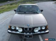 1984 BMW 7-Series for Sale
