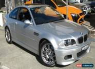 2002 BMW M3 E46 Silver Automatic 6sp A Coupe for Sale