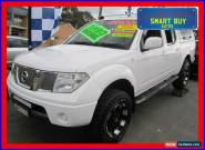2010 Nissan Navara D40 ST (4x4) White Manual 6sp M Dual Cab Pick-up for Sale