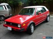1987 Volkswagen Cabrio for Sale
