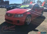 2007 Holden Commodore VE SV6 Red Manual 6sp M Utility for Sale