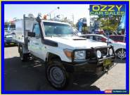 2008 Toyota Landcruiser VDJ79R Workmate (4x4) White Manual 5sp M Cab Chassis for Sale