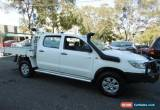 Classic 2012 Toyota Hilux KUN26R MY12 SR (4x4) White Manual 5sp M Dual Cab Chassis for Sale