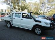 2012 Toyota Hilux KUN26R MY12 SR (4x4) White Manual 5sp M Dual Cab Chassis for Sale