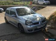 2002 RENAULT CLIO 16V SILVER for Sale