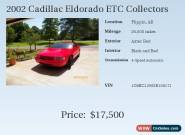 2002 Cadillac Eldorado Collector Series for Sale