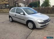 2002 VAUXHALL CORSA COMFORT 16V SILVER NO RESERVE for Sale