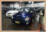 Classic 2001 Subaru Impreza MY01 GX (AWD) Blue Manual 5sp M Sedan for Sale