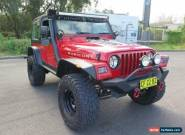 2000 Jeep Wrangler TJ Sport Red Manual 5sp M Hardtop for Sale