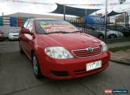 2006 Toyota Corolla ZZE122R Ascent Red Automatic 4sp A Sedan for Sale