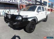 2012 Toyota Hilux KUN26R MY12 SR5 Double Cab White Manual 5sp M Utility for Sale
