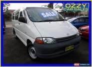 1996 Toyota Hiace RCH12R SBV White Manual 5sp M Van for Sale
