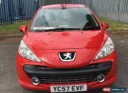 """L@@K 2007 PEUGEOT 207 1.4 M:PLAY RED.""""57"""" REG.SPARES OR REPAIRS.FINANCE REPO. for Sale"""