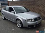 2002 AUDI A4 TDI V6 SE AUTO SILVER 2.5 TDI SPARES OR REPAIRS 99P START!!!! 144K for Sale