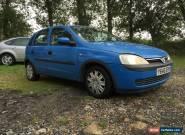 2001 VAUXHALL CORSA COMFORT 12V BLUE FSH - NO RESERVE for Sale