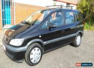 2005 VAUXHALL ZAFIRA DESIGN 16V BLACK 7 SEATER for Sale
