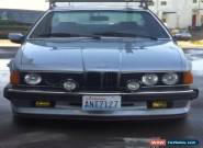 1985 BMW 6-Series for Sale