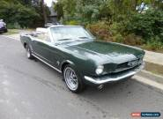 Ford Mustang 66 convertible c code 289 V8 auto   for Sale