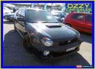 2002 Subaru Impreza MY02 WRX (AWD) Black Manual 5sp M Hatchback for Sale