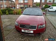 AUDI A4 CABRIOLET SPORT 3.0 V6 2003 SPARES OR REPAIR MOT SEP 2017 for Sale