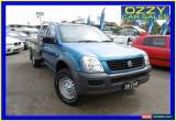 Classic 2005 Holden Rodeo RA LX (4x4) Blue Manual 5sp M Cab Chassis for Sale