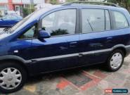 2003 VAUXHALL ZAFIRA DESIGN 16V BLUE for Sale