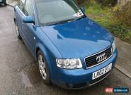 2002 AUDI A4 SPORT BLUE spares or repair for Sale