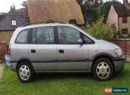 2002 VAUXHALL ZAFIRA COMFORT 16V GREY for Sale