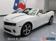 2012 Chevrolet Camaro 2SS RS CONVERTIBLE LEATHER HUD for Sale