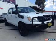 2007 Toyota Hilux KUN16R 07 Upgrade SR White Manual 5sp M Dual Cab Pick-up for Sale