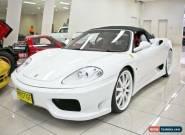 2001 Ferrari 360 Spider Triple Pearl White Automatic 6sp A Convertible for Sale