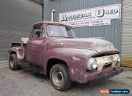 1954 FORD F100 LHD Y BLOCK MANUAL TRANS CLEAN  PROJECT TRUCK  for Sale