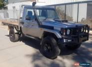 2005 TOYOTA LANDCRUISER HDJ79R TRAY TURBO DIESEL 4X4 LOW KMS LIGHT DAMAGE UTE  for Sale