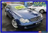 Classic 2004 Mercedes-Benz CLK240 C209 Avantgarde Blue Automatic 5sp A Coupe for Sale