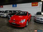 2004 Peugeot 307 CC Dynamic Red Automatic 4sp A Cabriolet for Sale