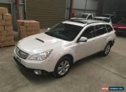 Subaru Outback 2012 turbo diesel 6spd luxury leather sunroof  rear damage repair for Sale