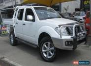 2013 Nissan Navara D40 MY12 ST-X 550 (4x4) White Automatic 7sp A for Sale