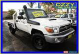 Classic 2007 Toyota Landcruiser VDJ79R Workmate (4x4) White Manual 5sp M Cab Chassis for Sale
