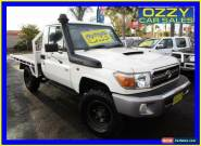 2007 Toyota Landcruiser VDJ79R Workmate (4x4) White Manual 5sp M Cab Chassis for Sale