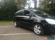 2009 09 VAUXHALL ZAFIRA EXCLUSIVE CDTI AUTO BLACK JUST 42000 MILES FROM NEW for Sale
