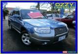 Classic 2007 Subaru Forester MY07 X Luxury Blue Manual 5sp M Wagon for Sale