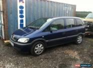 2004 VAUXHALL ZAFIRA 16V CLUB BLUE spares repair  for Sale