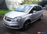 2007 Vauxhall Zafira SRI Silver 1.8 Petrol Spares or Repair Project for Sale