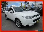 2013 Mitsubishi Outlander ZJ MY13 ES White Automatic 6sp A Wagon for Sale