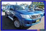 Classic 2013 Toyota Hilux KUN26R MY12 SR (4x4) Blue Manual 5sp M Dual Cab Pick-up for Sale