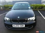 L@@K 2009 BMW 116I SPORT BLACK.SPARES OR REPAIR.NON RUNNER.VERY LOW MILES.VGC. for Sale