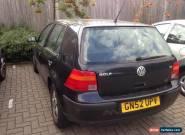 ** VW GOLF 1.6 Black  * 52 plate  * 8 mths MOT  for Sale