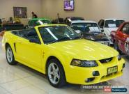 2002 Ford Mustang Cobra Yellow Manual 5sp M Convertible for Sale